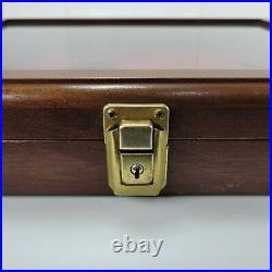 Vintage Knife Wood Glass Lid Display Case Schrade Old Timer Case