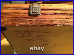 Vintage Oak Wood and Glass Display Case