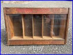 Vintage Remington Dupont Wood & Glass HI-SPEED 22's Display Case