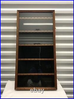 Vintage SMC Wood Display Cabinet/Case Glass Front 50 Slots Spoon Jewelry