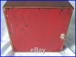 Vintage Table Top Art Deco Wood and Glass Display Cabinet Case 2 Shelves