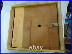 Vtg John Primble Goods Of Honour Belknap Hdwe Wood & Glass Front Display Case