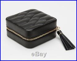 WOLF 329971 Caroline Black Zip Travel Jewelry Case