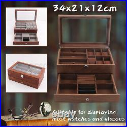 Watch Glasses Display Box Case Grids Storage Jewelry Collection Case Organiser