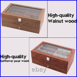 Watch Glasses Display Case Grids Storage Box Jewelry Collection Case