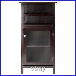 Wine Bottle Storage Cabinet Liquor Bar Home Furniture Wood Glass Case Decor Rack