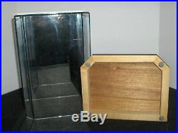 Wood & Glass Display Case Shelf/Dresser