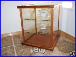 Wood and Glass / Display Case / Curio Case / Doll Case Mahogany