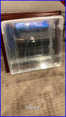 Wood and Glass Display Case Game Used Baseball Base Hanging Case