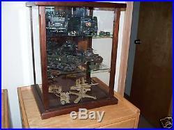 Wood and Glass / Model Case / Display Case / Curio Case Peruvian Walnut