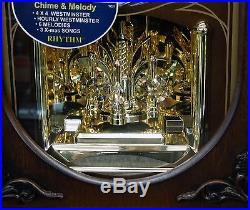 Wsm Crh165nr06 Mantel Clock Chelsea By Rhythm (wooden Case With Crystals)