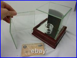 Yankees Stadium Foul Pole actual piece in Glass case cube wood base with COA